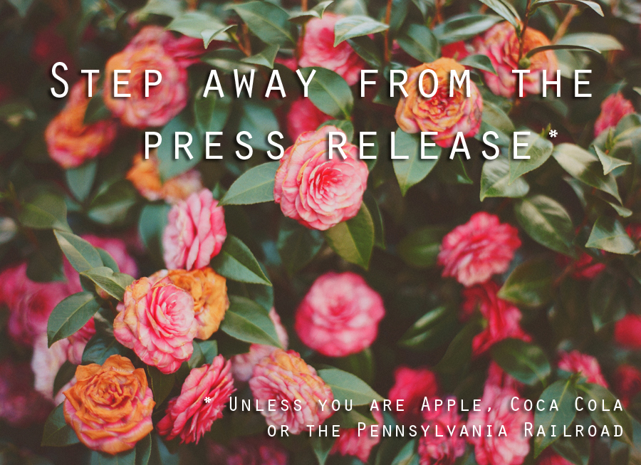step away from the press release1