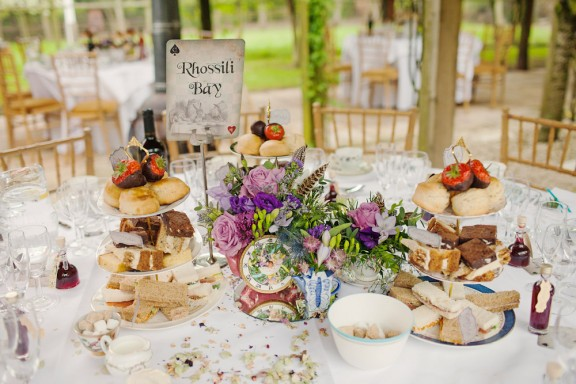 Mad Hatters Afternoon Tea Party Claire Iain Rock N Roll Bride