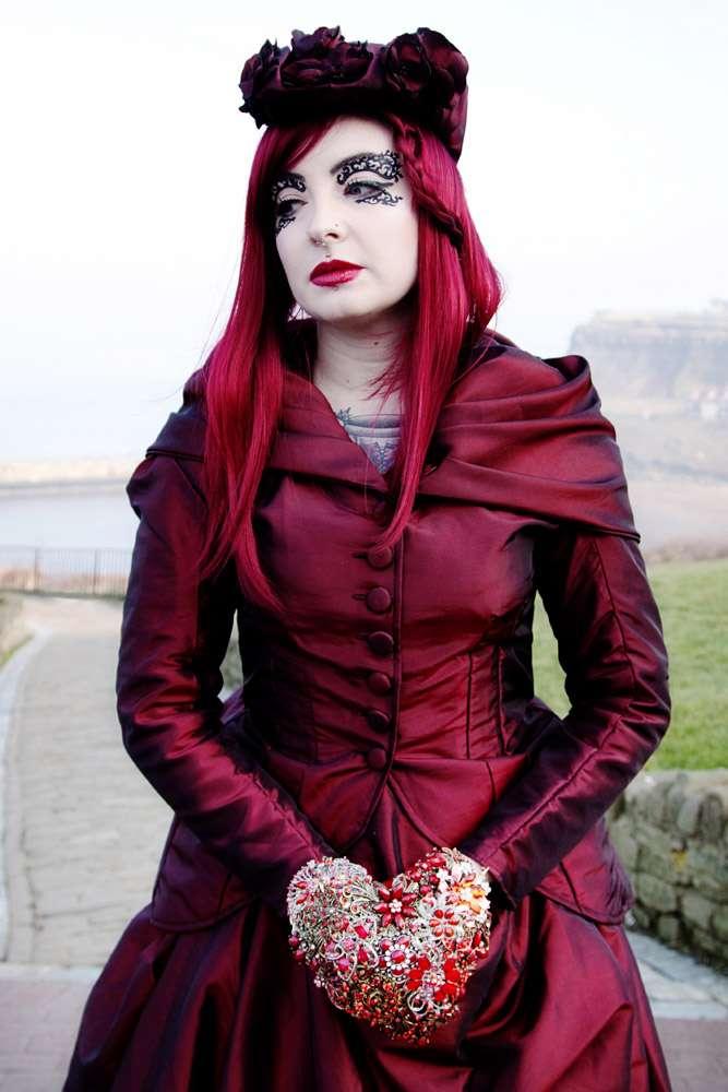 Red Gothic Wedding Dress 73 Luxury GothShoot SilverStarPhotographic