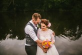 Abby & Liam Village Hall Colourful Wedding – Miki Photography-175