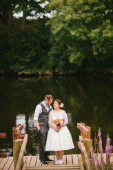 Abby & Liam Village Hall Colourful Wedding – Miki Photography-177
