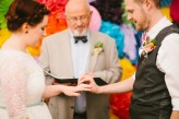 Abby & Liam Village Hall Colourful Wedding – Miki Photography-41