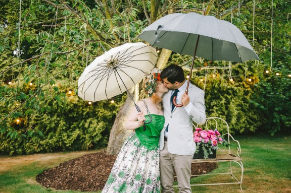 lara & gav's cute and quirky back garden wedding.