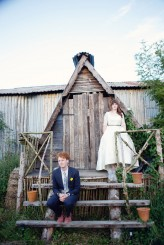 Lydia Stamps Photography Quirky DIY Yurt Wedding  831