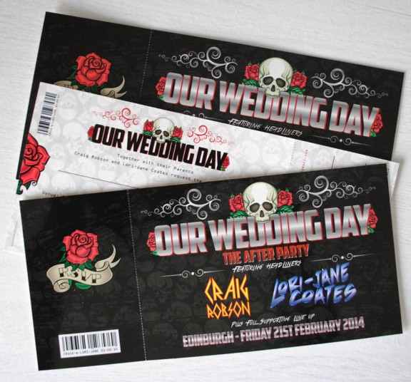 Having a Festival Or Concert Wedding Check out Wedfest Stationery