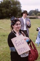 Alice in Wonderland Festival Field Wedding Sussex Alternative Brighton Wedding Photographer-176