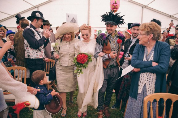 Alice in Wonderland Festival Field Wedding Sussex Alternative Brighton Wedding Photographer-270