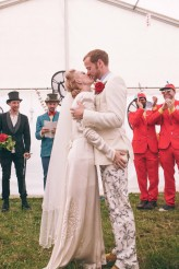 Alice in Wonderland Festival Field Wedding Sussex Alternative Brighton Wedding Photographer-410
