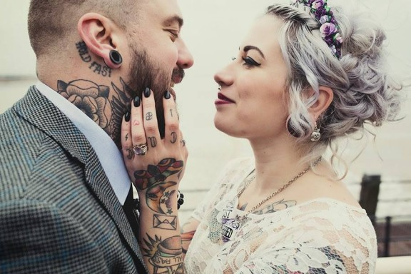 lisa jane photography tattooed wedding