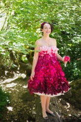 pink ombre wedding dress1