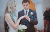ukrainian wedding blue hair bride2