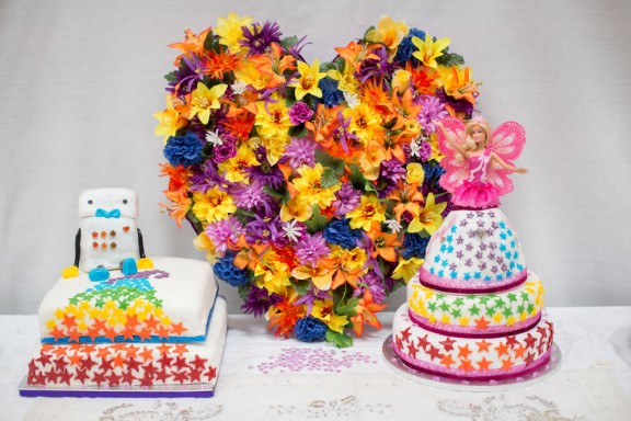 Rainbow Wedding Cakes 92 Cute Coombes Farm Wedding Sussex
