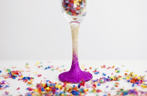 ombre glitter glass diy9
