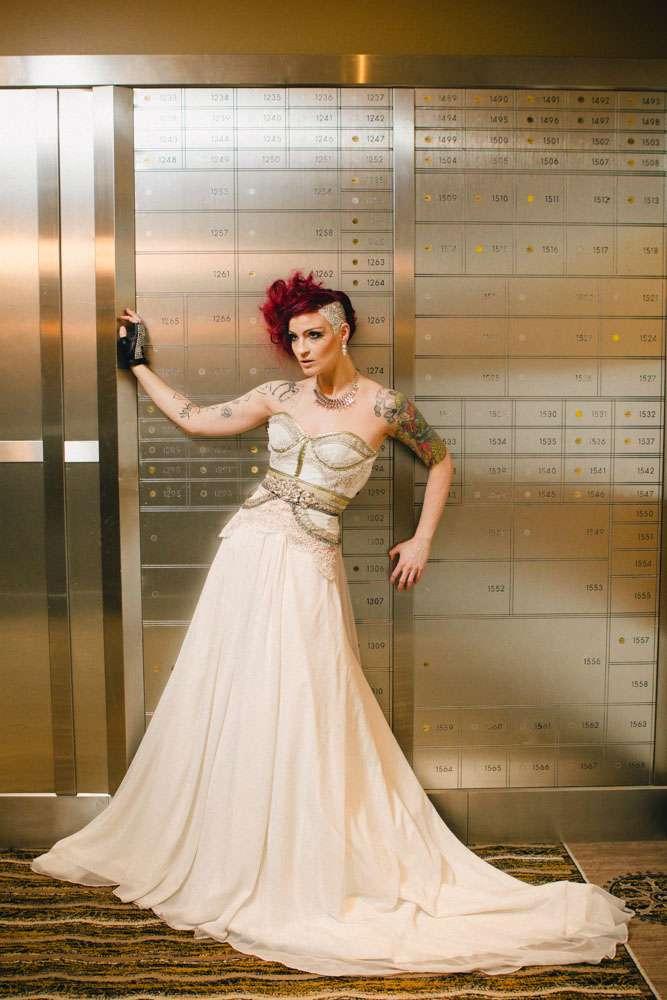 Alternative Bridal Idea Stick Crystals On Your Head