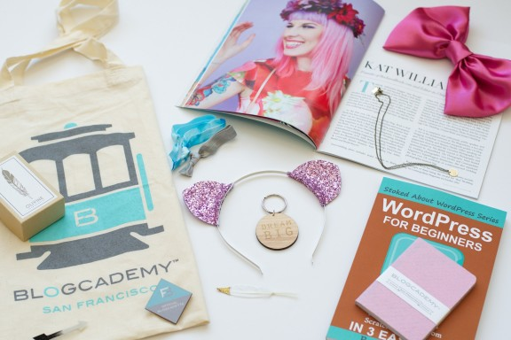 blogcademy goodie bag
