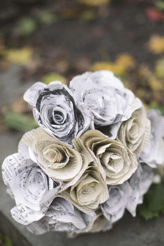 Wedding Bouquet Ideas 50 Fabulous music sheet bouquet