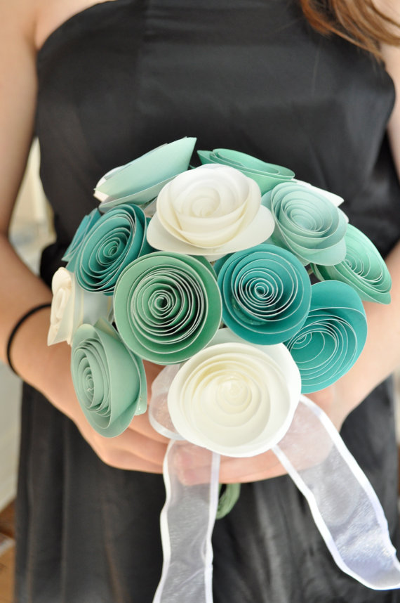 Wedding Paper Bouquet Of Flowers : Alternative bouquet ideas for non traditional brides
