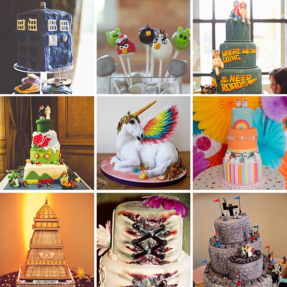 20 geeky wedding cakes