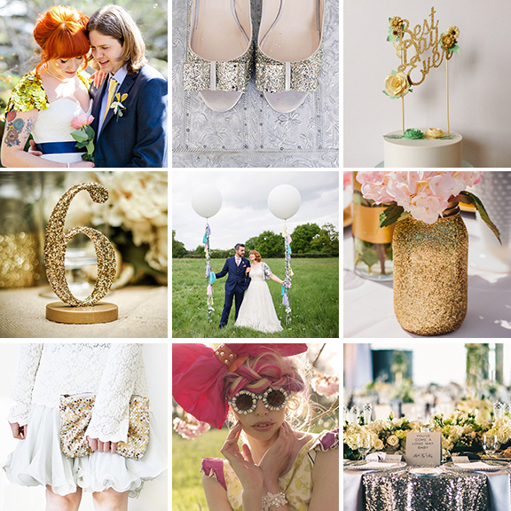 20 ways to include sparkle in your wedding