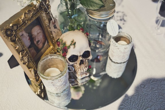 Lisa Jane Photography - Islington Metal Works Skull Wedding -007