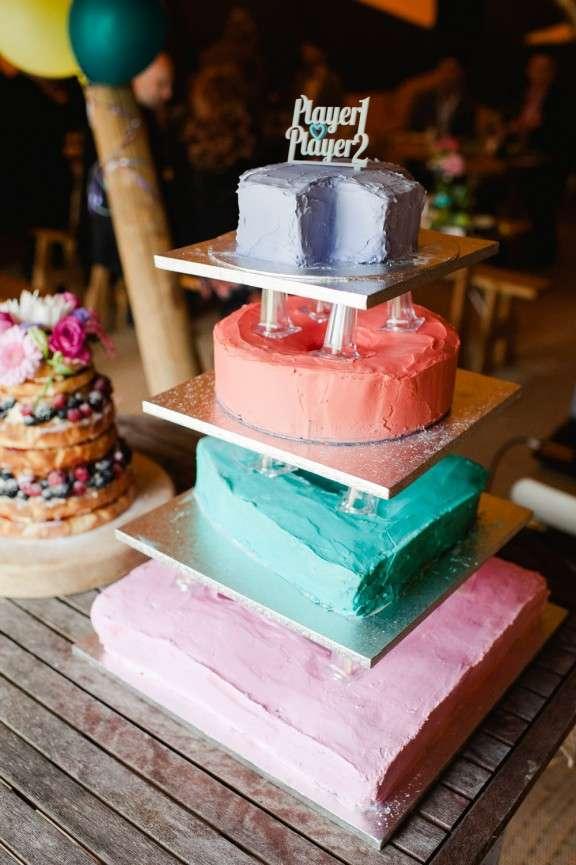 Rainbow Wedding Cakes 73 Amazing PlayStation logo cake