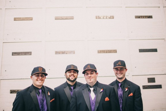 sports mad groomsmen