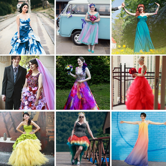 60 Astonishing Coloured Wedding Dresses · Rock n Roll Bride