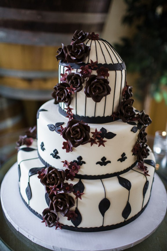 goth wedding cake california winery wedding and brandin 183 rock 14887