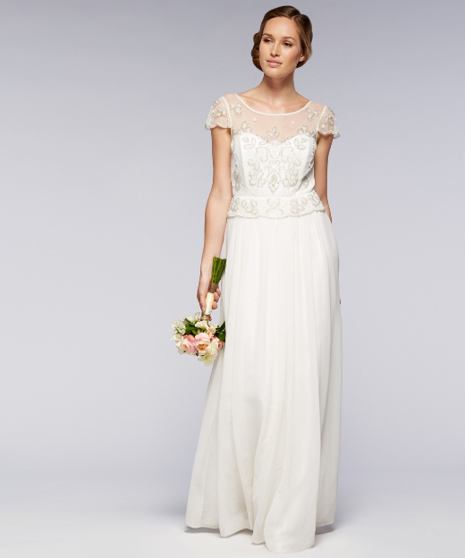 Ivory embellished bridal dress