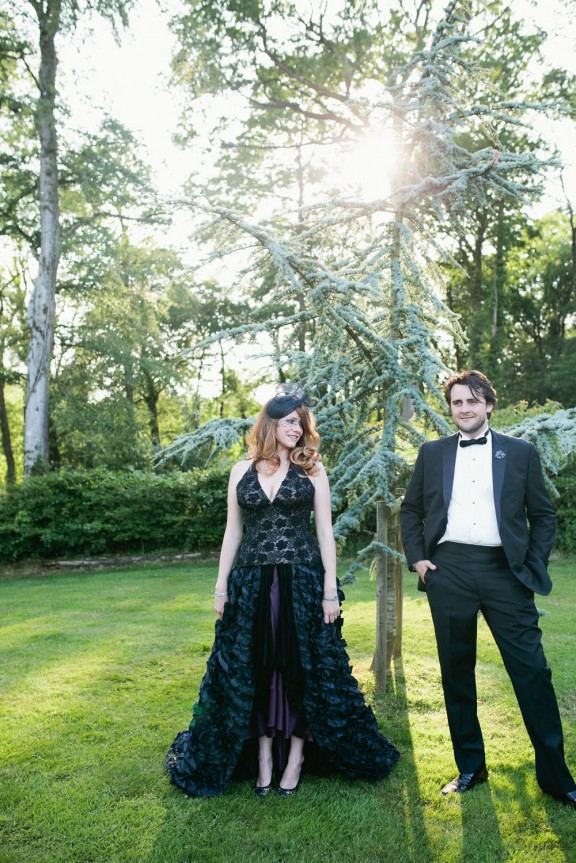 Midsummer Black Wedding Dress in Devon_Green Antlers Photography  45