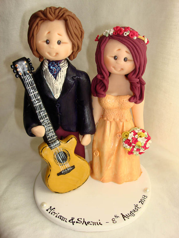 Personalised bride and groom wedding cake topper-