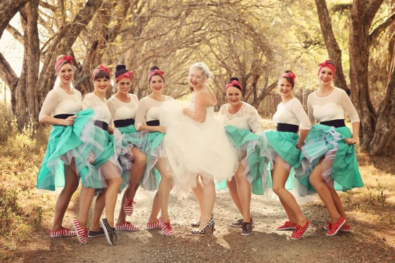 1950s Wedding In South Africa With A Flashmob Ceremony Guy Kirsty