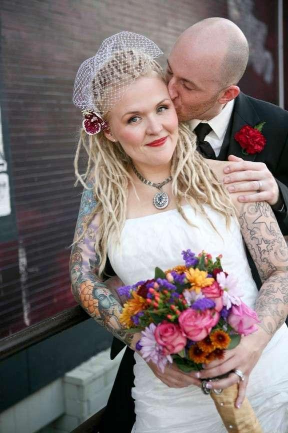 60 Utterly Beautiful Tattooed Brides 183 Rock N Roll Bride