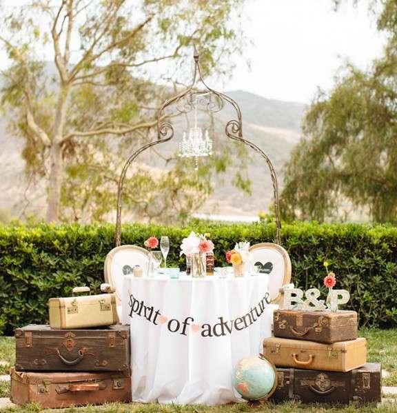 travel themed wedding idea
