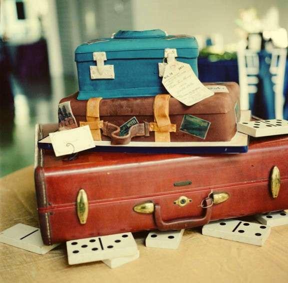 vintae suitcase cake