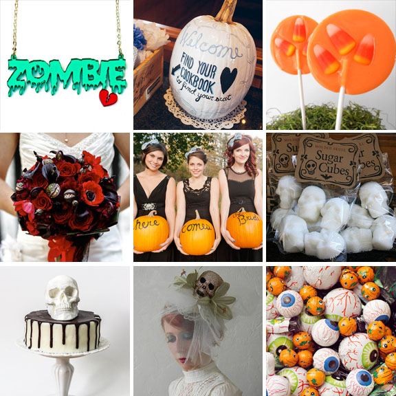 ideas for a halloween wedding