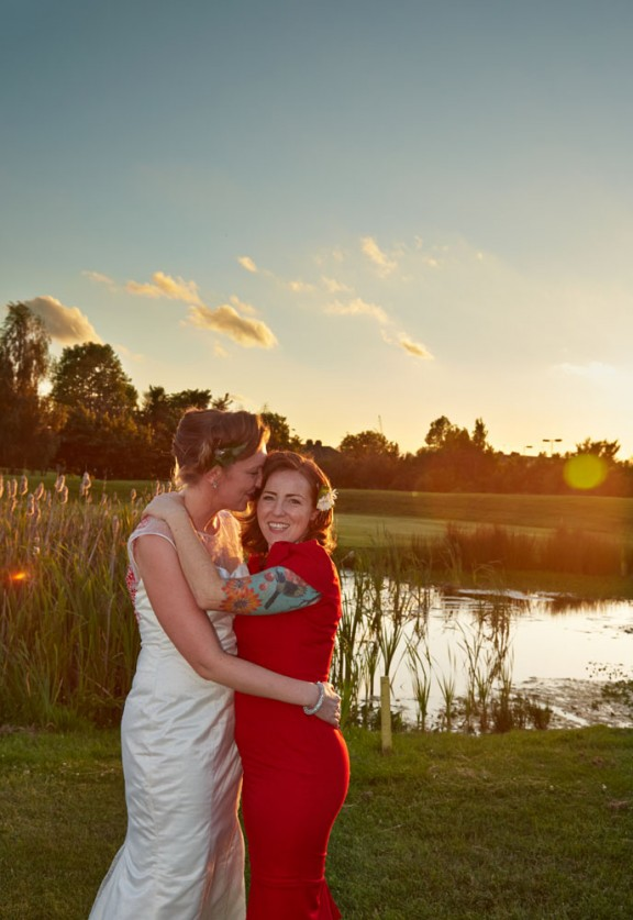 red and white reto lesbian wedding29