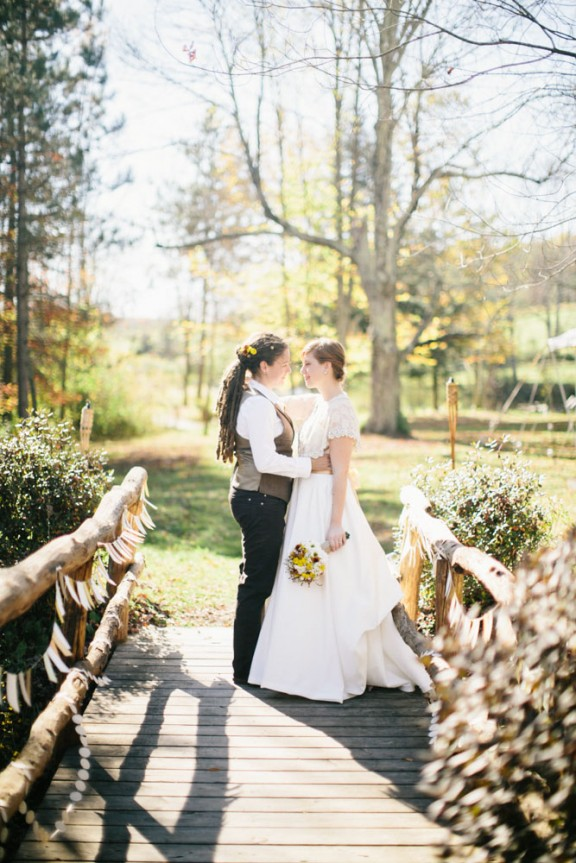 rustic nature autumn same sex wedding20
