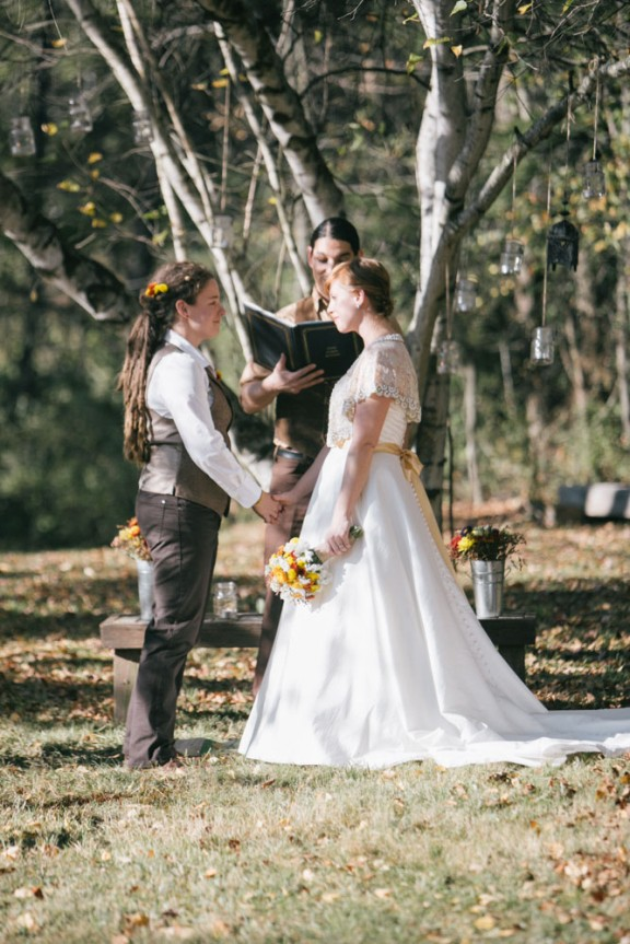 rustic nature autumn same sex wedding36