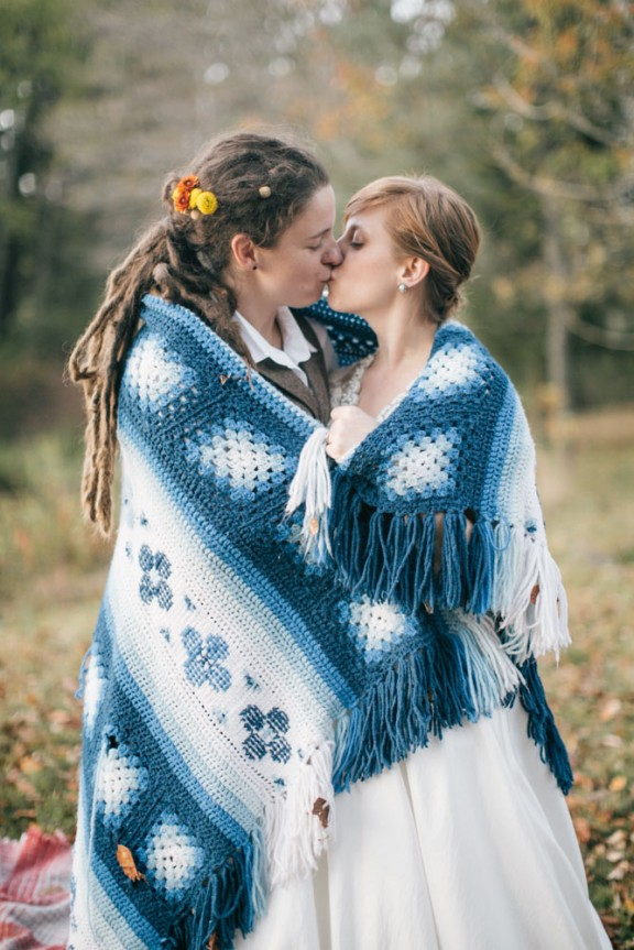 rustic nature autumn same sex wedding50