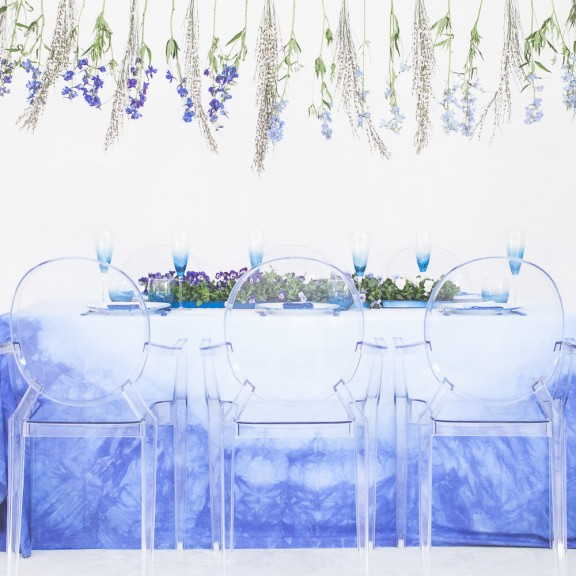 diy dip dyed wedding dress and wedding table5