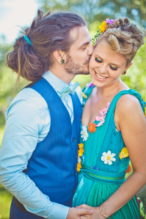 Colourful Norwegian Wedding With A Bride In Moomin Valley