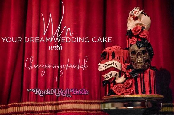 win your wedding cake rocknrollbride choccywoccydoodah1