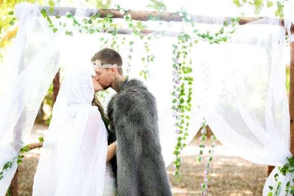 Romantic Viking And Folk Festival Wedding Rock N Roll Bride