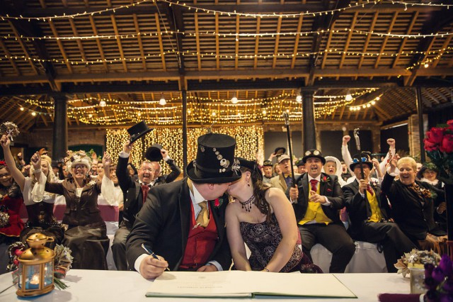 steampunk funfair wedding at a museum (18)