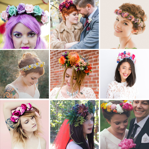 best flower crowns for brides1