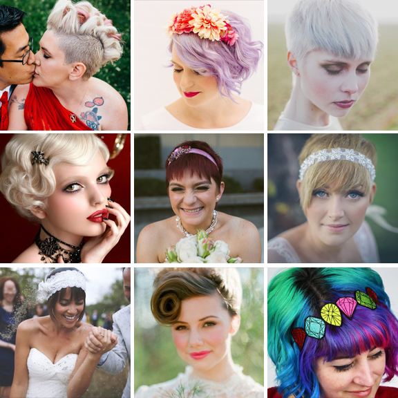Bridal Hairstyle Tips For Your Wedding Day: Wedding Hairstyle Ideas For Brides With Short Hair · Rock