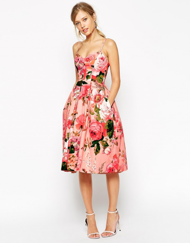 ASOS spring bridesmaid dress
