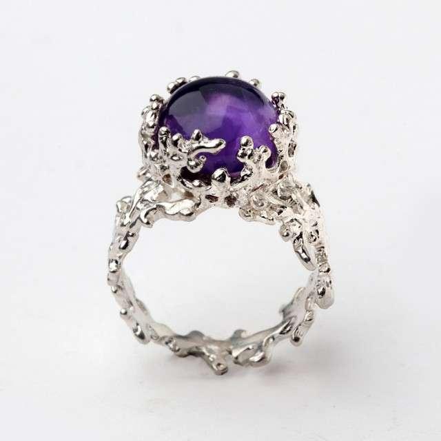 Mystic Topaz Wedding Rings 13 Great Purple amethyst coral inspired