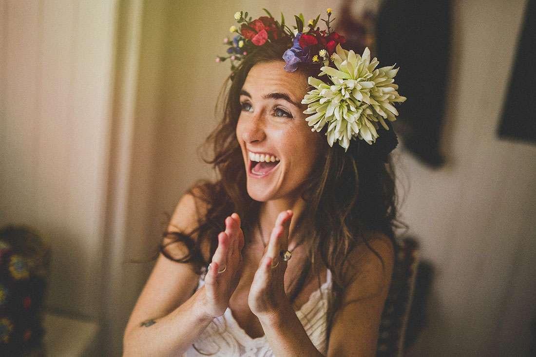 colourful chilean and brazilian backyard wedding rock n roll bride